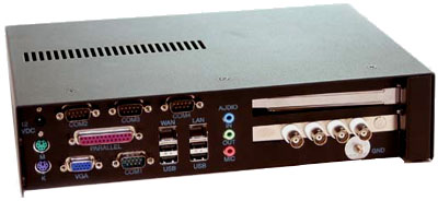 Cortexa back panel with analog video expansion card