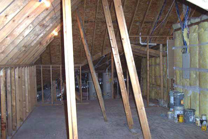 Original attic space